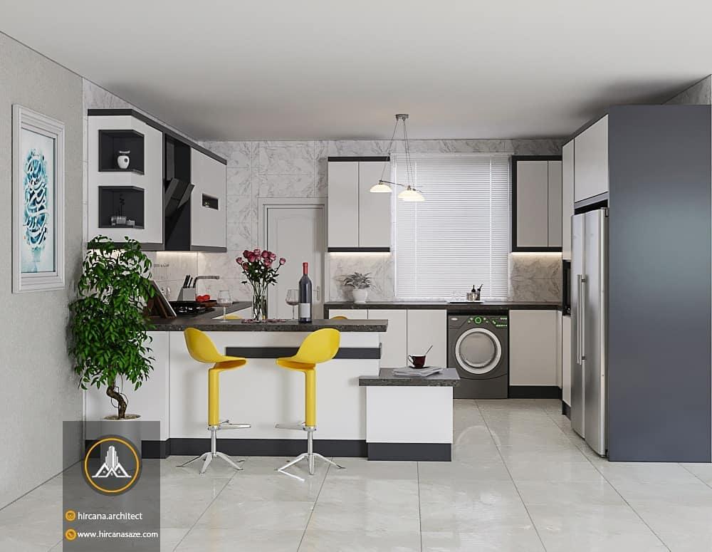 طراحی آشپزخانه مدرن پروژه آقای نایبی
