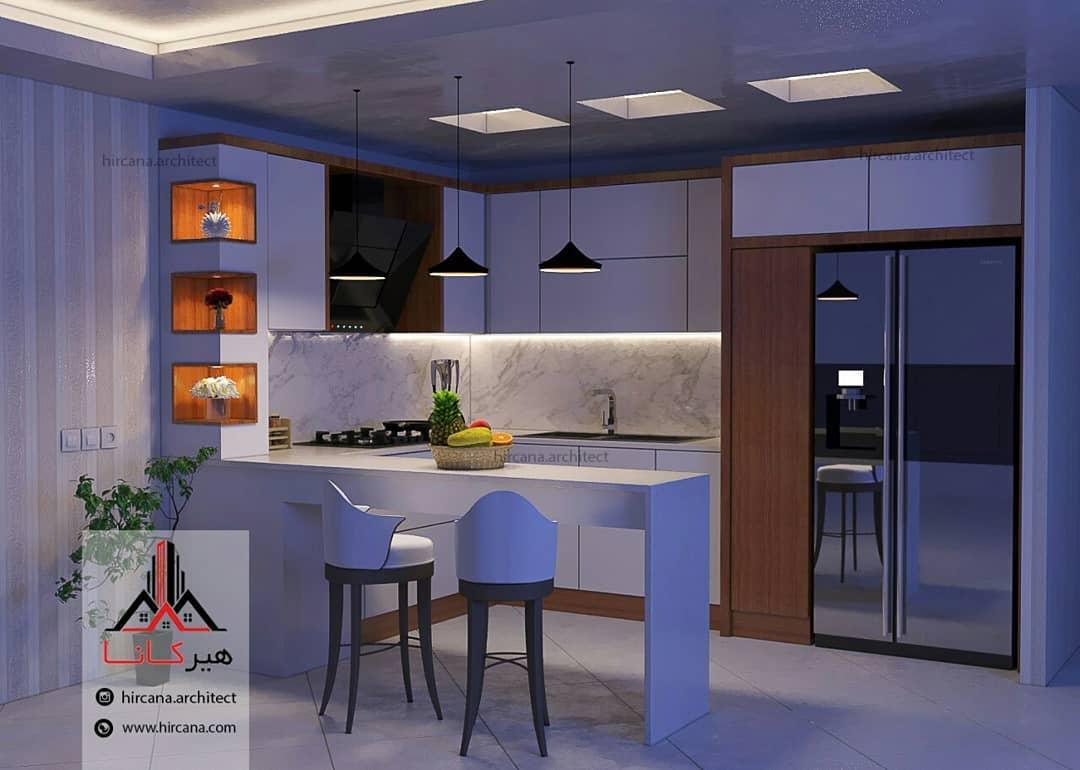 طراحی آشپزخانه مدرن پروژه آقای خلخالی